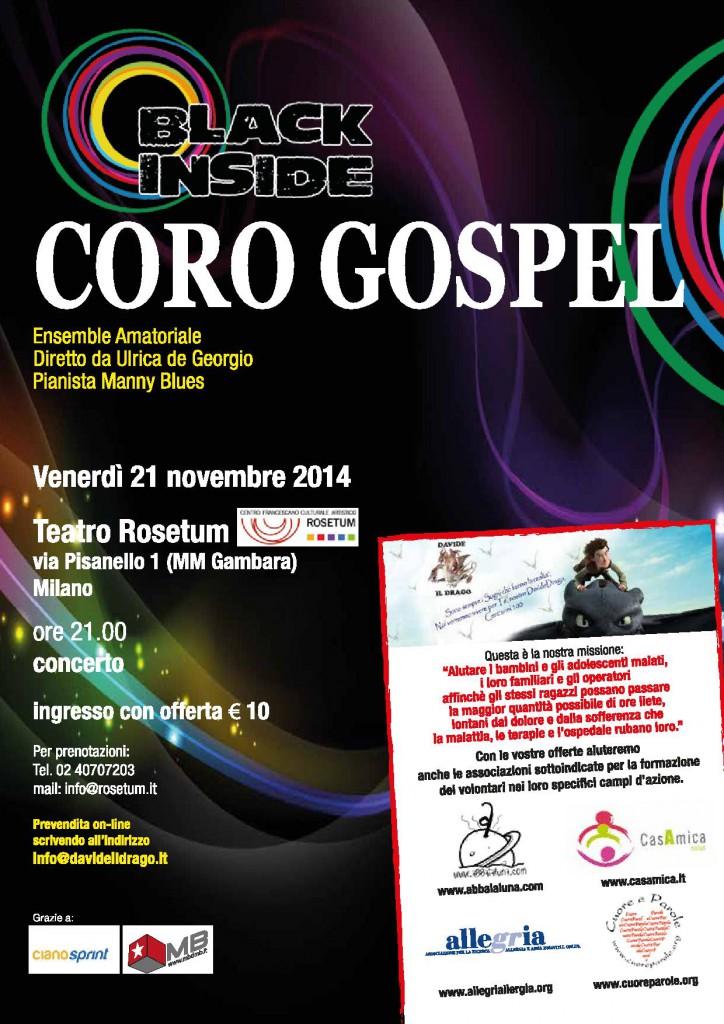 """Concerto coro Gospel """"Black Inside"""""""